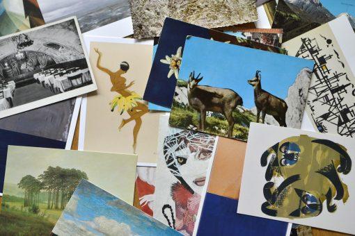 Postkartentausch am Rundgang